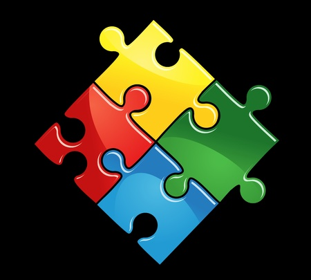 10618762 - pieces of puzzle game for abstract connection or integration design
